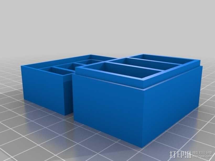 Gopro相机电池收纳盒 3D模型  图1