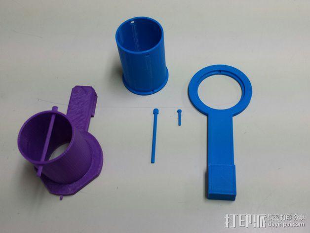 加大版的线轴支撑器 3D模型  图1