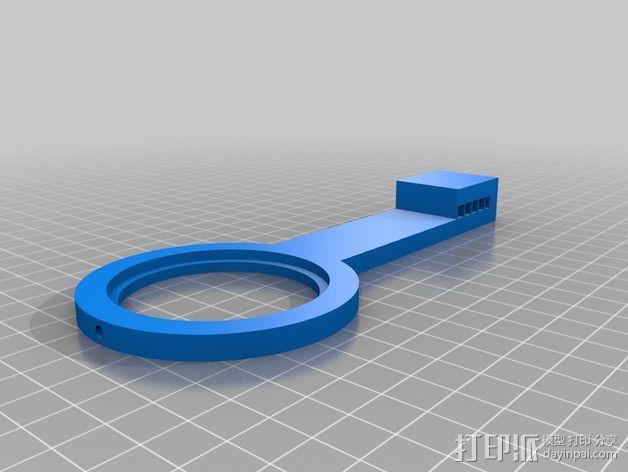 加大版的线轴支撑器 3D模型  图5