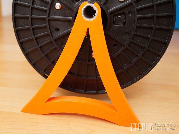 线轴支撑器 3D模型  图1