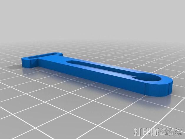 马达支架 3D模型  图3