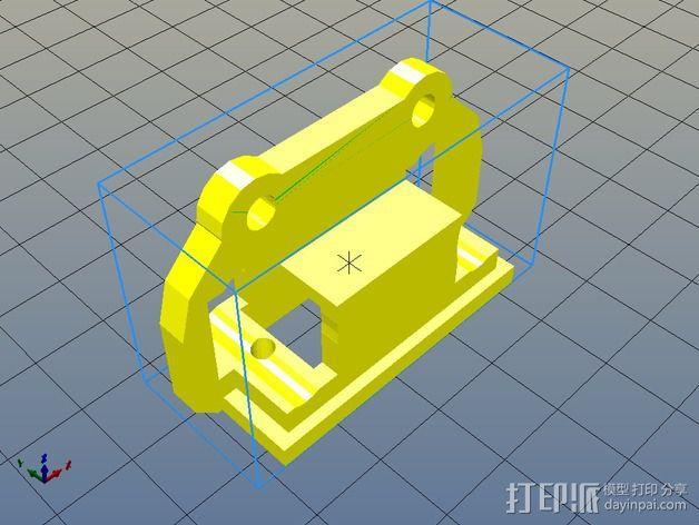 马达支架 3D模型  图5