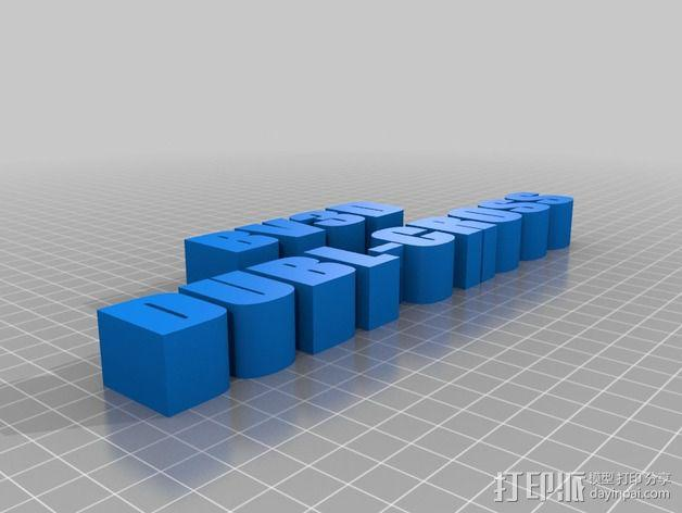 打印机的门架 3D模型  图2
