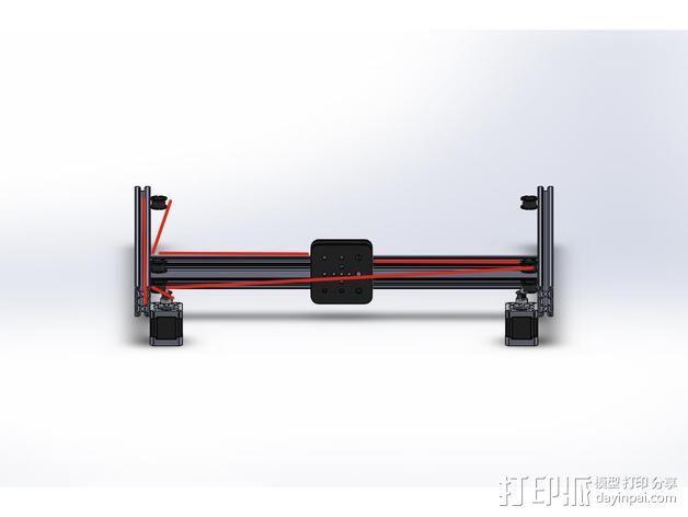 打印机的门架 3D模型  图4