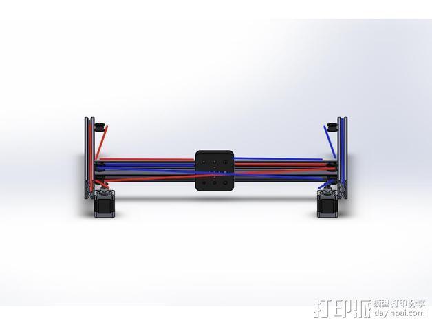 打印机的门架 3D模型  图5