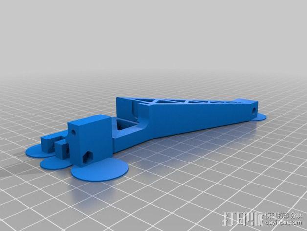 Prinrtbot Metal Simple打印机的支撑架 3D模型  图3