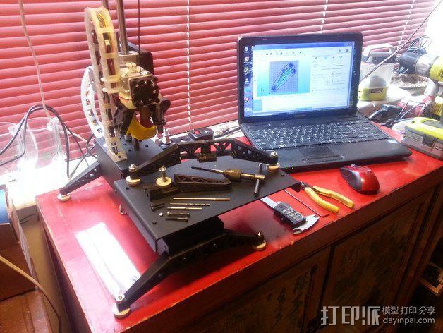 Prinrtbot Metal Simple打印机的支撑架 3D模型  图7
