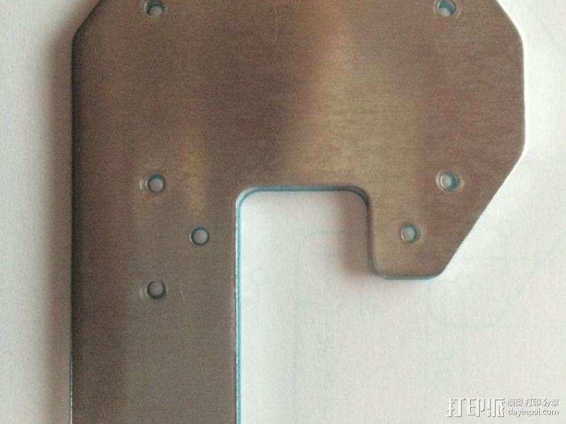 RigidBot打印机封头板 顶板 3D模型  图1