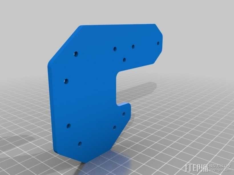 RigidBot打印机封头板 顶板 3D模型  图2