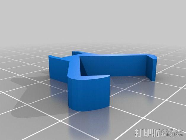二极管固定夹 3D模型  图2