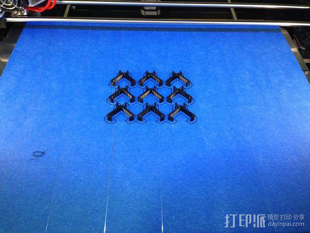 二极管固定夹 3D模型  图3