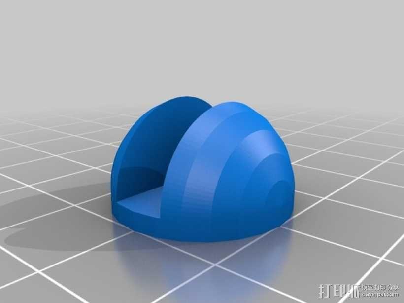 MakerFarm Prusa i3打印机的底垫 3D模型  图1