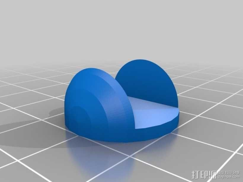 MakerFarm Prusa i3打印机的底垫 3D模型  图2