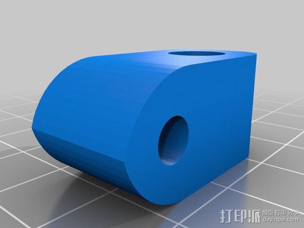 Prusa i3 打印机的撑脚和线轴支架 3D模型  图2