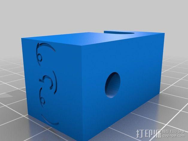 Prusa i3 打印机的撑脚和线轴支架 3D模型  图4