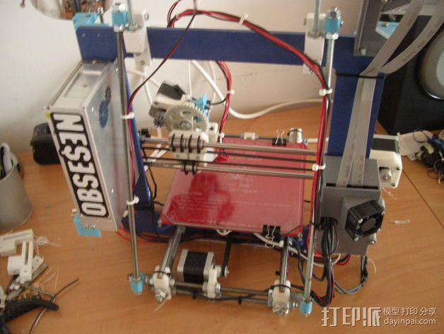 Prusa i3 打印机的撑脚和线轴支架 3D模型  图6