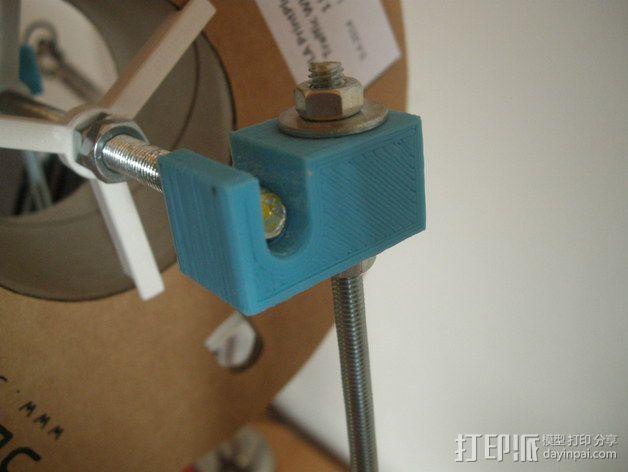Prusa i3 打印机的撑脚和线轴支架 3D模型  图9