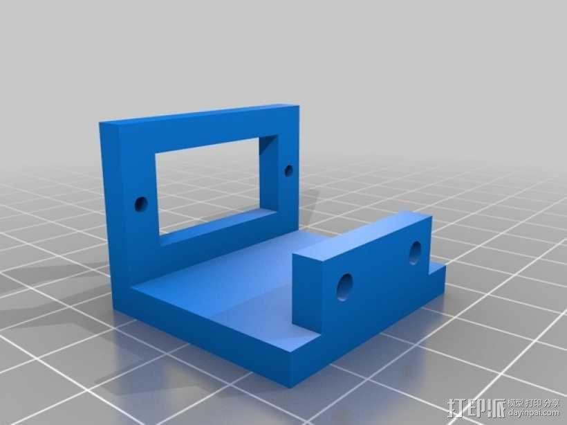 Prusa i3打印机的马达支架 3D模型  图2