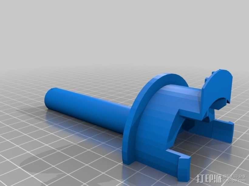Ultimaker 2打印机的线轴支架 3D模型  图1