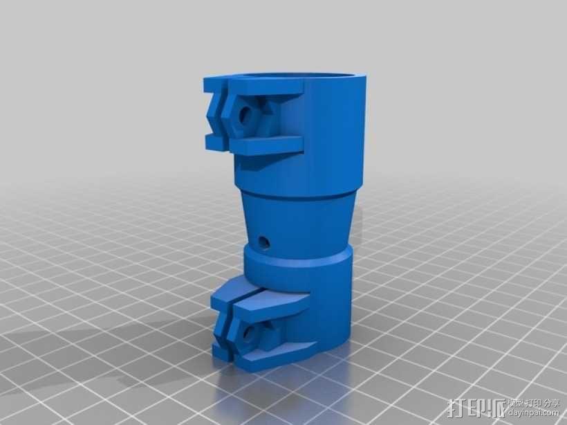 打印机的料斗接口管 3D模型  图1