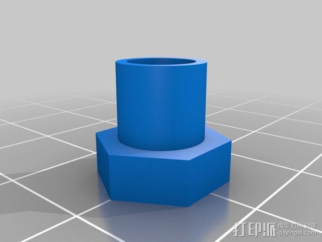 轴杆适配器 轴承 3D模型  图4