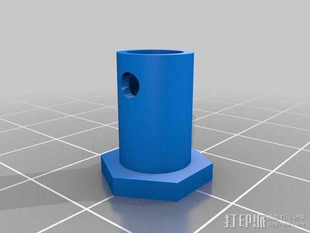 轴杆适配器 轴承 3D模型  图6