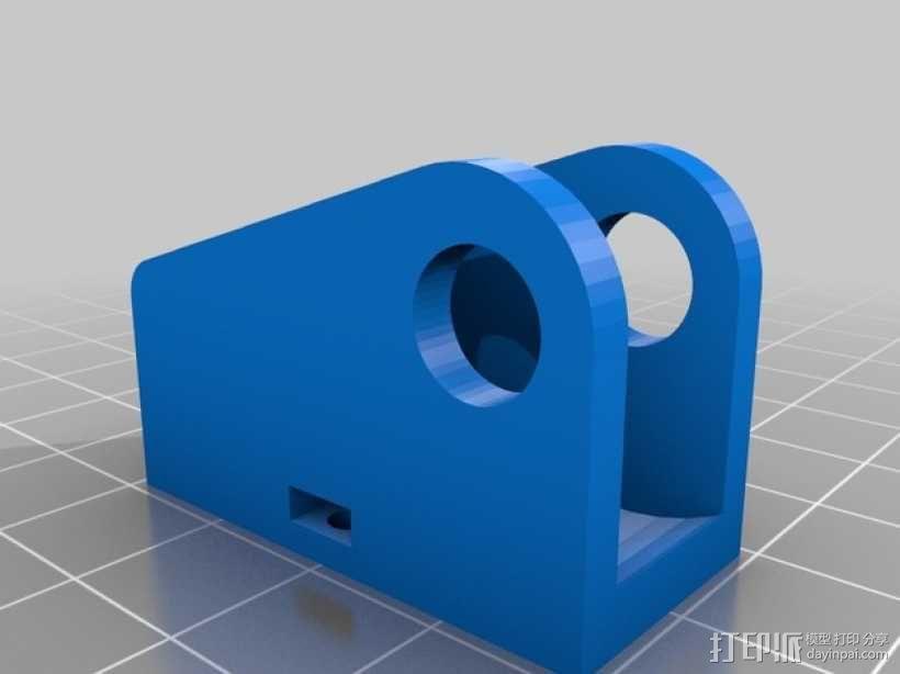 Y轴惰轮支架 3D模型  图3