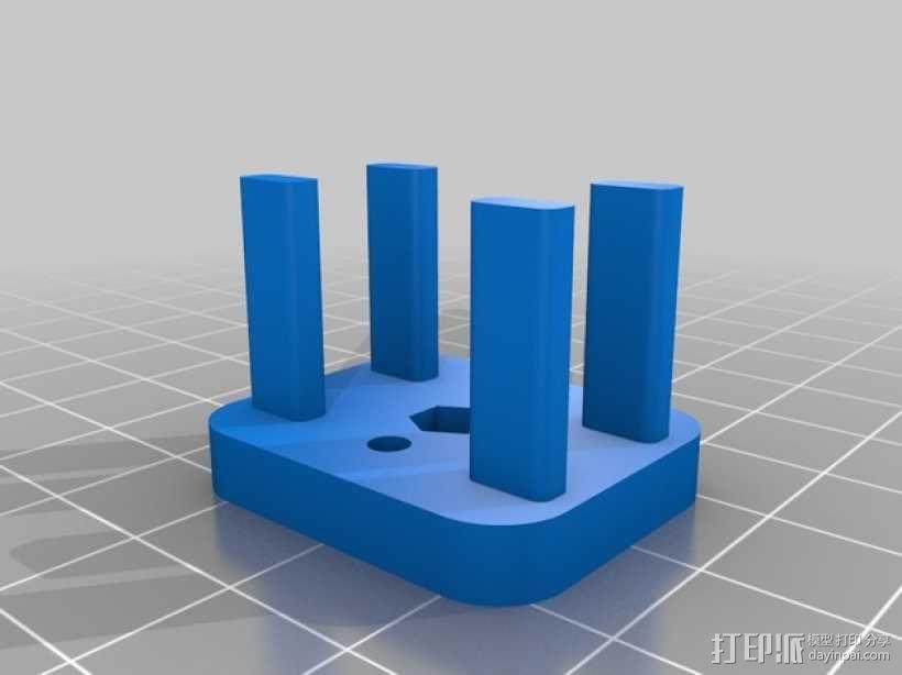 Y轴惰轮支架 3D模型  图2