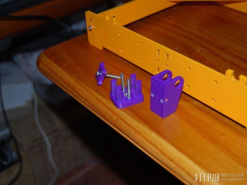 Y轴惰轮支架 3D模型  图1