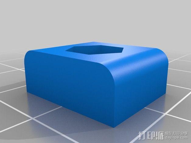 内嵌式螺母适配器 3D模型  图4