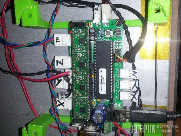 Solidoodle 3打印机的电路板散热风扇 3D模型  图3