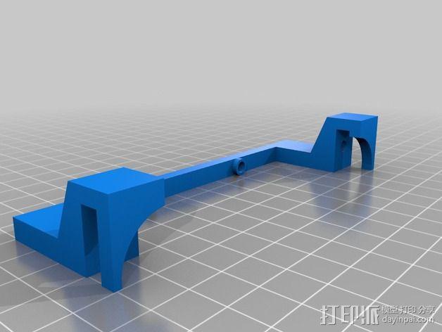 Solidoodle 3打印机的电路板散热风扇 3D模型  图4