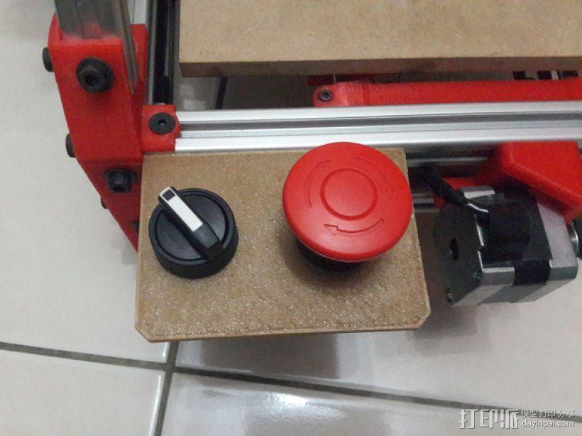Mendelmax 1.5打印机的紧急停止开关和选择开关 3D模型  图1