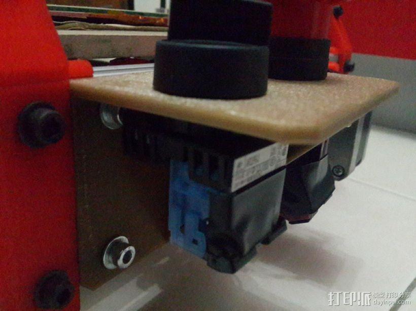 Mendelmax 1.5打印机的紧急停止开关和选择开关 3D模型  图3