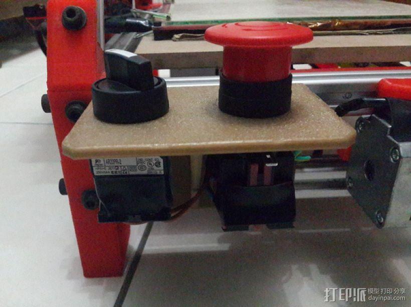 Mendelmax 1.5打印机的紧急停止开关和选择开关 3D模型  图2