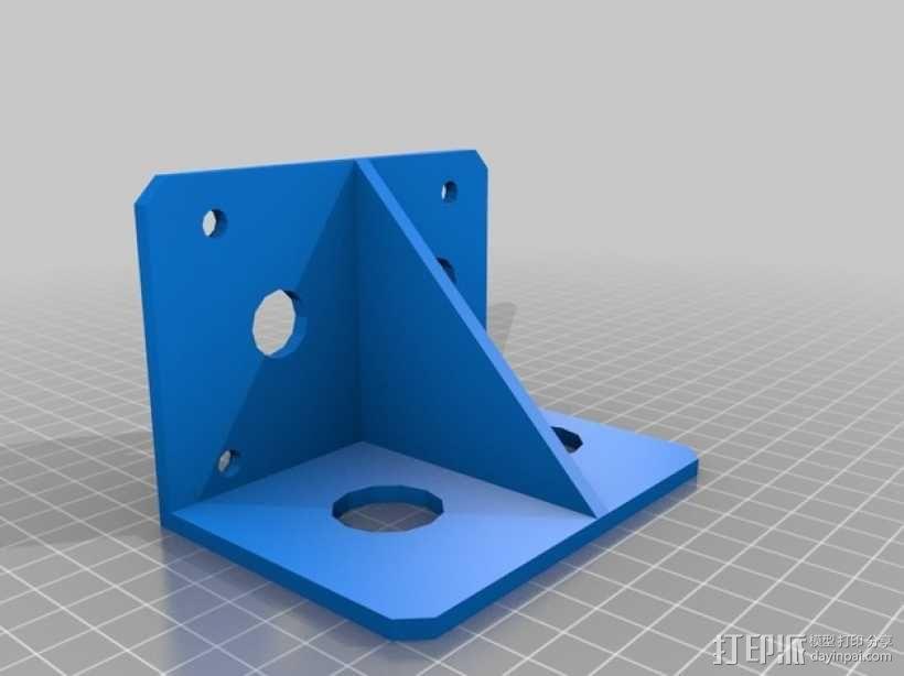 Mendelmax 1.5打印机的紧急停止开关和选择开关 3D模型  图4