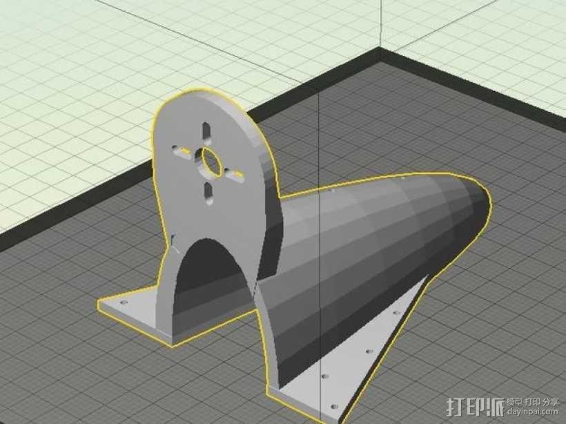 空气动力马达支架 3D模型  图3