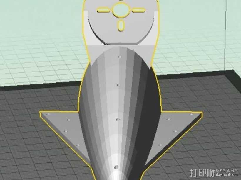 空气动力马达支架 3D模型  图2