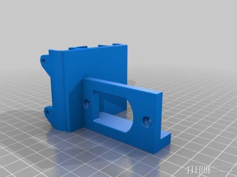 Bulldog 挤出机的支架 3D模型  图1