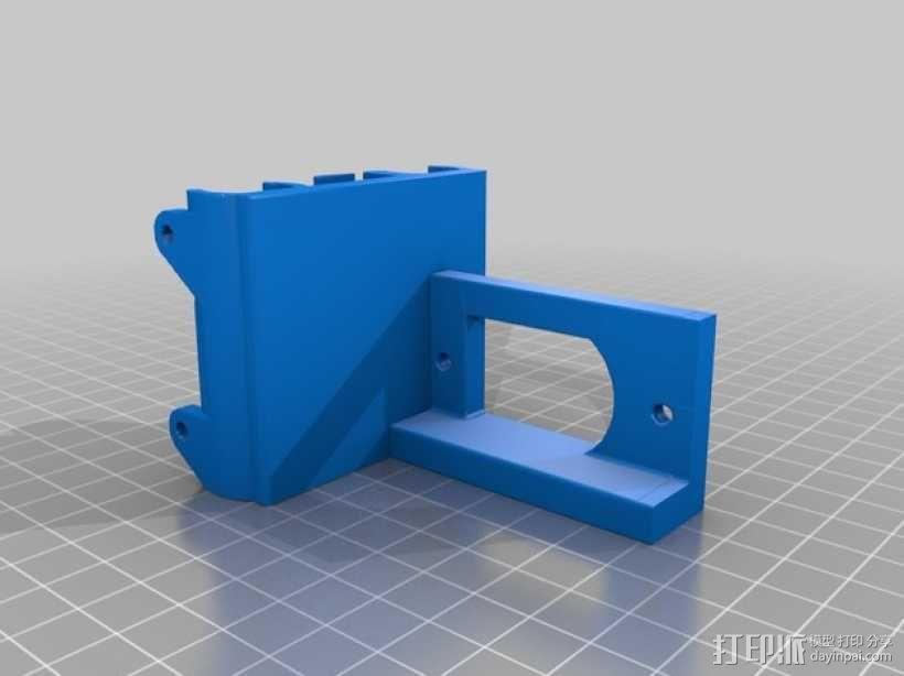 Bulldog 挤出机的支架 3D模型  图2