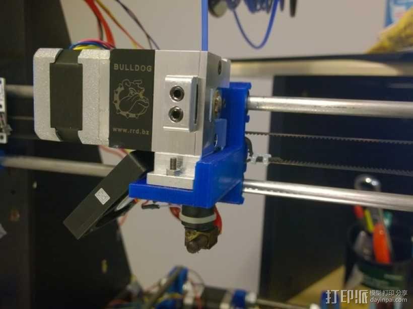 Bulldog 挤出机的支架 3D模型  图4