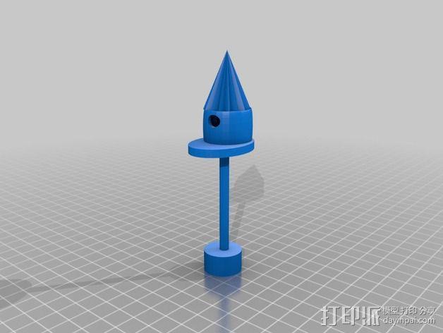鸟屋模型  3D模型  图1