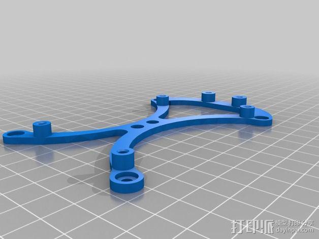 Ramps 1.4 电路板的支架 3D模型  图3