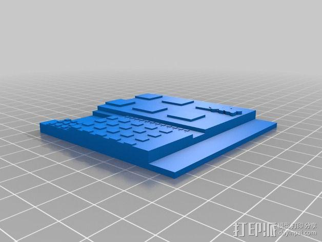 哈罗德和紫色的蜡笔 3D书 3D模型  图2