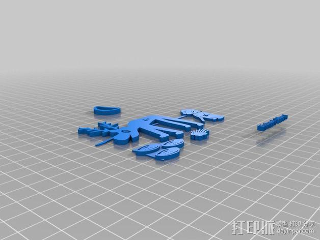 哈罗德和紫色的蜡笔 3D书 3D模型  图6
