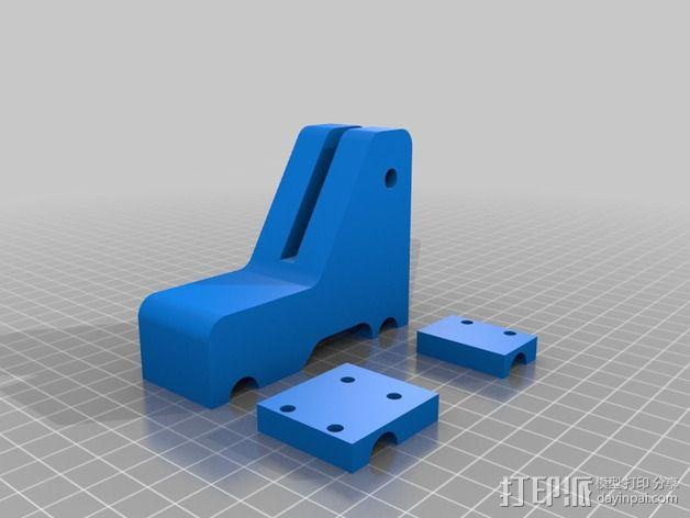 刻度盘指示器支架 3D模型  图1