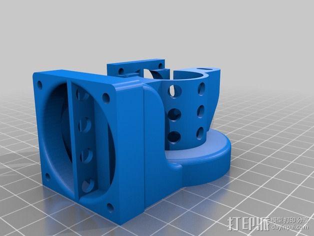 Prusa i3打印机的风扇 3D模型  图3