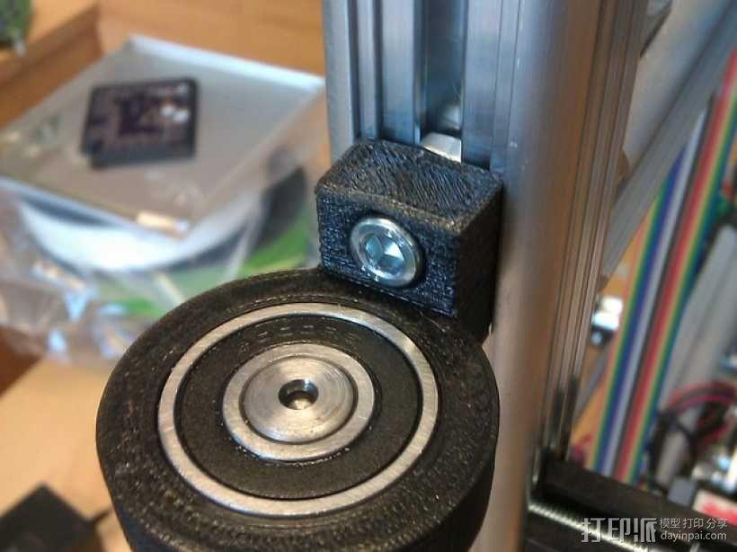 K8200滚珠螺杆支架 3D模型  图2