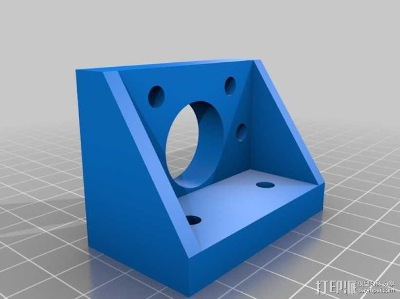 K8200滚珠螺杆支架 3D模型  图4