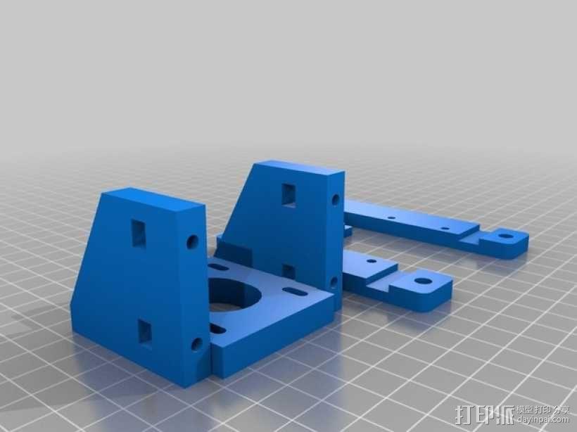 K8200滚珠螺杆支架 3D模型  图5